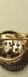 Набор сережки и кольцо 925 пробы с фианитами, фото №9