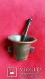 Ступка маленька з товкачиком Н4,1  Ф5,3  124,7г., фото №2