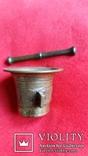 Ступка маленька з товкачиком Н4,1  Ф5,3  124,7г., фото №3
