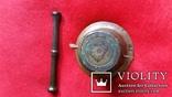 Ступка маленька з товкачиком Н4,1  Ф5,3  124,7г., фото №7