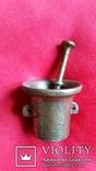 Ступка маленька з товкачиком Н5,4  Ф6,3  316,8г., фото №2