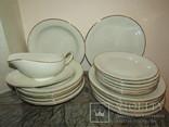 Антикварный сервиз тарелки блюда соусник фарфор Winterling in Röslau 1907-1950 Германия photo 2