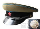 Суконная фуражка ВОСО служба военных сообщений клеймо красный воин 1958 год photo 2