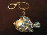 Коллекционный брелок - Рыбка - металл,стразы,эмаль., фото №2