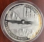 10 евро 2005 Германия, Национальный парк Баварский лес, серебро. Пруф., фото №4