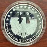 10 евро 2005 Германия, Национальный парк Баварский лес, серебро. Пруф., фото №5