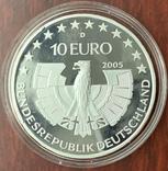 10 евро 2005 Германия, Национальный парк Баварский лес, серебро. Пруф., фото №6