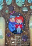 Набор открыток зимние Новый год гномы красные шапочки и колпаки, фото №4