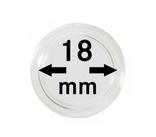 Монетные капсулы с внутренним диаметром 18 мм, в комплекте 10 штук. 2250018P.