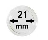 Монетные капсулы с внутренним диаметром 21 мм, в комплекте 10 штук. 2250021P.