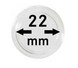 Монетные капсулы с внутренним диаметром 22 мм, в комплекте 10 штук. 2250022P.