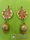 Античные золотые серьги. Вес 9,1гр., фото №4