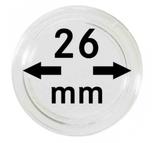 Монетные капсулы с внутренним диаметром 26 мм, в комплекте 10 штук. 2250026P.