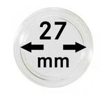 Монетные капсулы с внутренним диаметром 27 мм, в комплекте 10 штук. 2250027P.