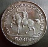 1 флорин (пам'ятний 1934 року). Австралія - срібло 925. См. обсуждение. photo 1