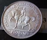 1 флорин (пам'ятний 1934 року). Австралія - срібло 925. См. обсуждение. photo 6