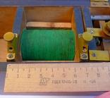Старинный прибор в деревянном футляре., фото №8