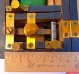 Старинный прибор в деревянном футляре., фото №9