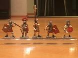 """Фігурки сувенірні із олова """"Римська армія"""" 5 штук., фото №2"""
