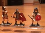 """Фігурки сувенірні із олова """"Римська армія"""" 5 штук., фото №3"""