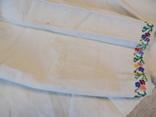 Борщівська вишивка на домотканому дрібним хрестиком зшита вручну, фото №5