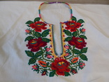 Борщівська вишиванка гладдю з квітковим орнаментом, фото №5