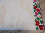 Борщівська вишиванка гладдю з квітковим орнаментом, фото №10