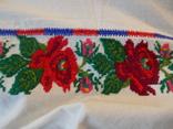 Борщівська вишиванка гладдю з квітковим орнаментом, фото №11