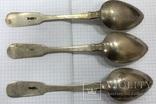 Набор серебряный столовых ложек 84 пробы 1880 года на 3 персоны., фото №5