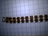 Винтажный гарнитур (колье и браслет), рубиновое стекло ЧССР, фото №11