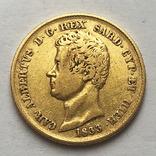 20 лир 1833 года. Сардиния. photo 2