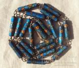 Бусы серебро, перегородчатая эмаль (клуазоне)., фото №2
