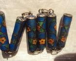 Бусы серебро, перегородчатая эмаль (клуазоне)., фото №7
