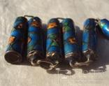 Бусы серебро, перегородчатая эмаль (клуазоне)., фото №8