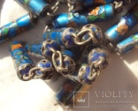 Бусы серебро, перегородчатая эмаль (клуазоне)., фото №9