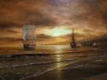 """""""Берег южного моря"""" холст масло 60х100 Борисенко photo 3"""