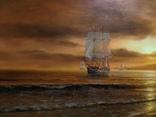 """""""Берег южного моря"""" холст масло 60х100 Борисенко photo 4"""
