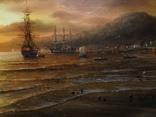 """""""Берег южного моря"""" холст масло 60х100 Борисенко photo 5"""