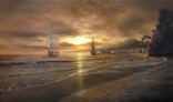 """""""Берег южного моря"""" холст масло 60х100 Борисенко photo 1"""