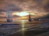 """""""Берег южного моря"""" холст масло 60х100 Борисенко photo 9"""