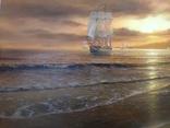 """""""Берег южного моря"""" холст масло 60х100 Борисенко photo 11"""