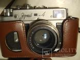 Фотоаппарат Зоркий-4 с объективом Юпитер-8, в кожанном футляре и коробке фото 7