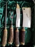 Нож набор барбекю стейк рог оленя Solingen Германия топор photo 7