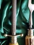 Нож набор барбекю стейк рог оленя Solingen Германия топор photo 8