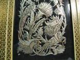 Картина На меди ручная работа ( Азия , Клеймо ) 36*30 см, фото №3