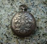Павел Бурэ карманные часы серебро 84