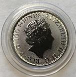 100 фунтов 2018 год Англия платина 31,1 грамм 999,5' photo 2