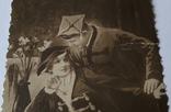 """Старинное открытое письмо """"Друзья"""" (7.5*12.5), фото №4"""