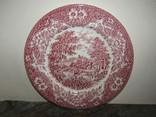 Тарелка блюдо с тематической росписью клеймо Англия