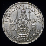 Великобритания шиллинг 1945 Unc серебро